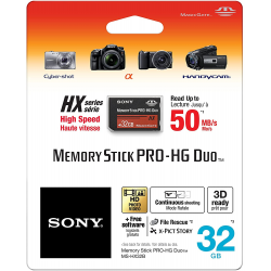 32GB Sony Memory Stick PRO-HG Duo HX High-Speed Memory Card for Sony Devices