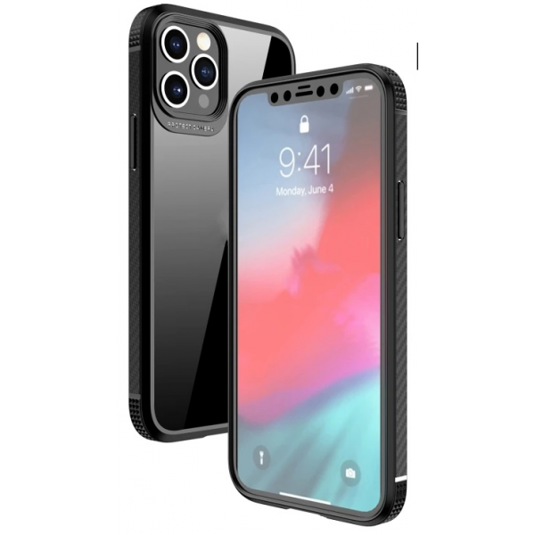iPAKY MG Series Carbon Fiber Texture Shockproof Case For iPhone 12 Pro Max