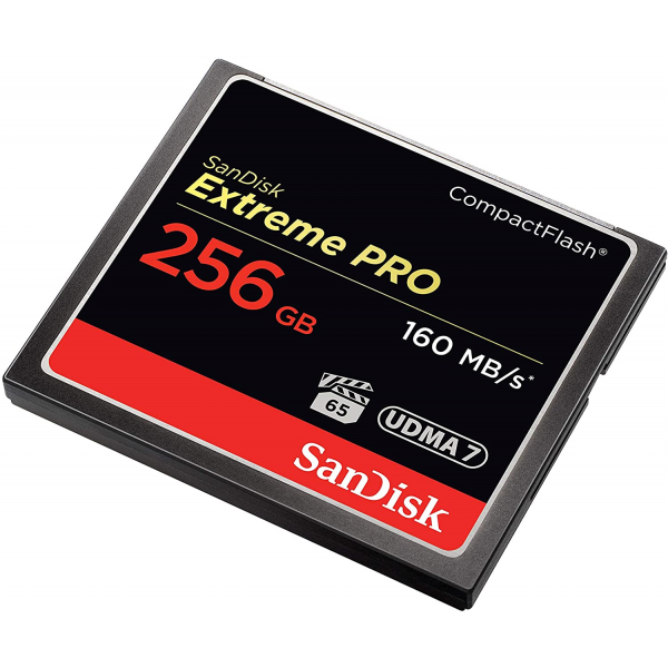 SanDisk Extreme Pro 256 GB 160 MB/s CompactFlash Memory Card