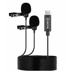 BOYA BY-M3D Digital Dual-Head USB Type-C Lavalier Microphones
