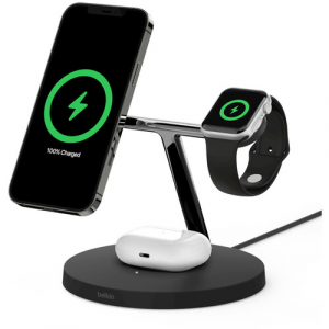 Belkin BOOST CHARGE PRO 3-in-1 15W Wireless Charger with MagSafe