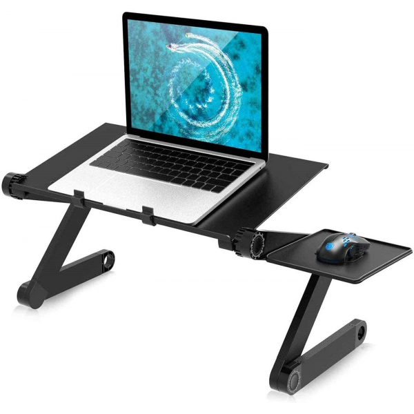 Portable Adjustable Laptop, Reading Stand with Mouse Pad