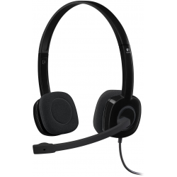 Logitech H151 3.5 mm Analog Stereo Headset  with Boom Microphone