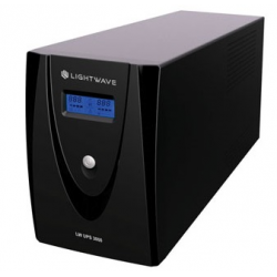 Light Wave 3000VA Line Interactive UPS -black