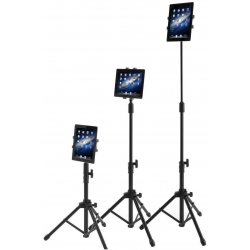 Adustable Tripod Stand for Apple iPad, iPad Mini and All Other 7-10 Inch Pcs With Carrying Case