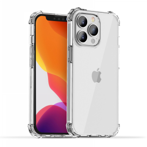 iPAKY TPU PC Hybrid Transparent Shockproof  Case for iPhone 13 Pro Max