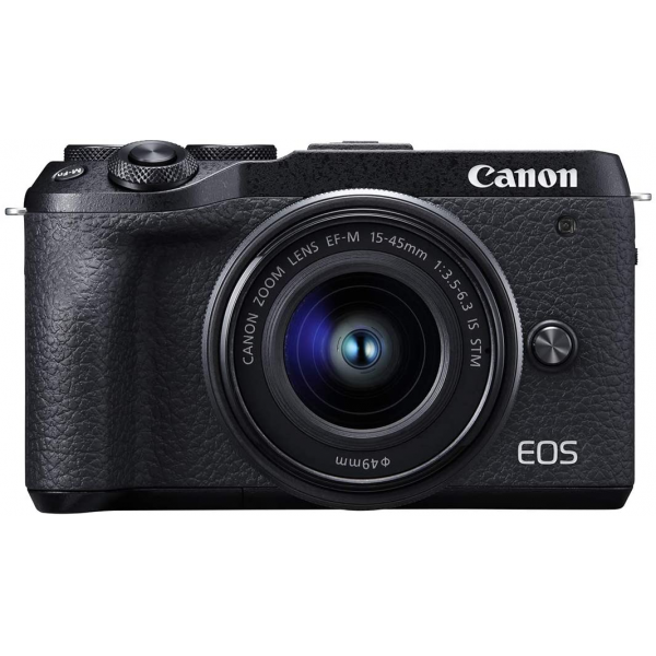 Canon EOS M6 Mark II Mirrorless Camera + EVF 15-45mm Lens