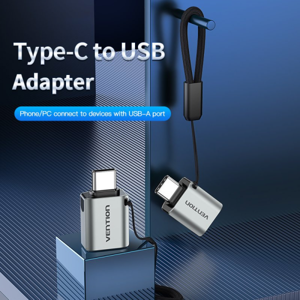 Vention USB-C Male to USB 3.0 Female OTG Adapter