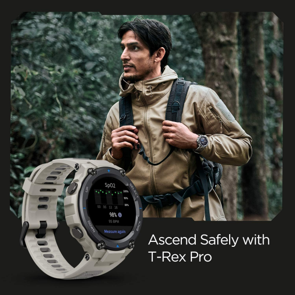Amazfit T-Rex Pro Smartwatch Fitness Watch with Built-in GPS