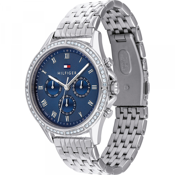 Tommy Hilfiger Womens Quartz Wrist Watch, Chronograph and Stainless Steel- 1782141
