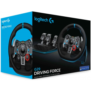 Logitech G29 Driving Force Racing Wheel and Floor Pedals for PS5/PS4/PS3/PC/Mac