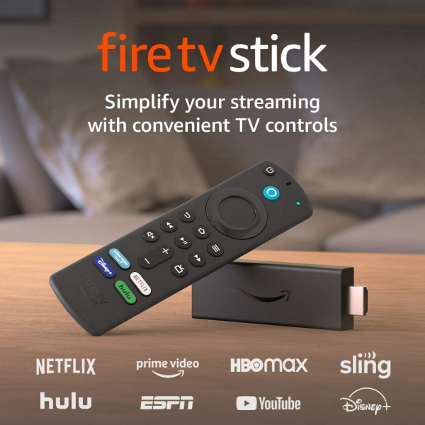 Amazon Fire TV Stick (3rd Gen) with Alexa Voice Remote HD streaming device (2021 Model)
