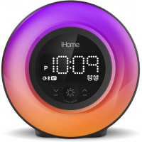 iHome PowerClock Glow Alarm Clock with FM and Charging Port