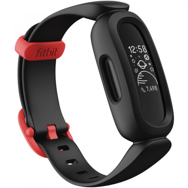 Fitbit Ace 3 Activity Tracker for Kids (Black/Sport Red)