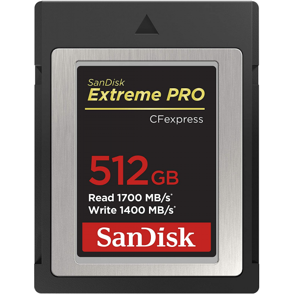 SanDisk 512GB Extreme PRO CFexpress Card Type B - SDCFE-512G-GN4NN