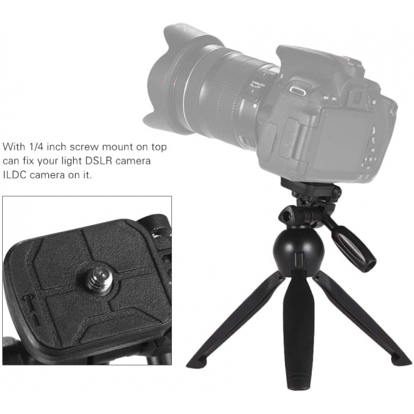 YUNTENG VCT-2280 Multi-function Mini Tabletop Tripod with Microphone Holder