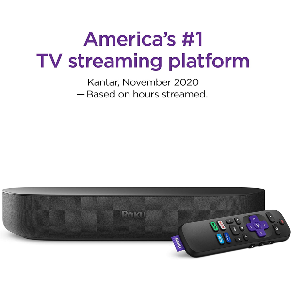 Roku Streambar | 4K/HD/HDR Streaming Media Player & Premium Audio, All In One