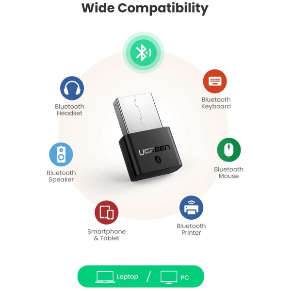 UGREEN USB Bluetooth 4.0 Adapter Wireless Dongle Receiver for PC