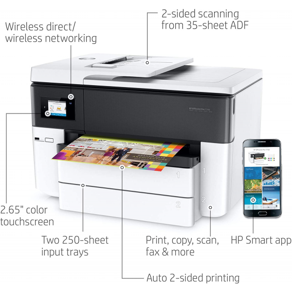 HP OfficeJet Pro 7740 Wide Format All-in-One Printer with Wireless Printing