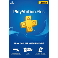 Sony 12 Month Playstation Plus Psn Membership Card (New) 1 Year