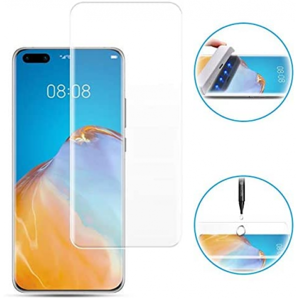 UV Full Glue Tempered Glass Protector for Huawei P40 Pro