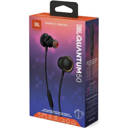 JBL Quantum 50 Wired, in-Ear Gaming Headphones with Inline Control