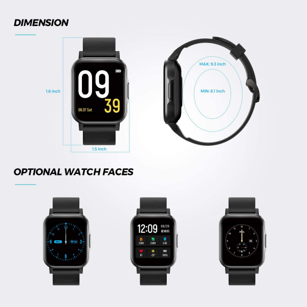 SoundPEATS Smart Watch Fitness Tracker with All Day Heart Rate Monitor