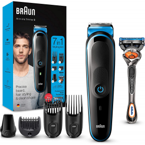 Braun MGK3245 7-in-1 All-in-one Trimmer 3 , Beard Trimmer for Men, Hair Clipper and Face Trimmer