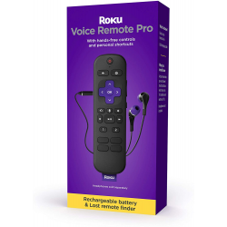 Roku Voice Remote Pro, Rechargeable Voice Remote with TV Controls