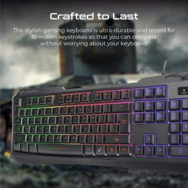 Vertux Radiance Wired Gaming Keyboard MX Cherry Blue