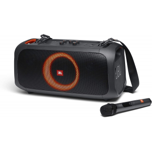 JBL Partybox On-The-Go - Portable Party Speaker with Built-in Lights and Wireless Mic