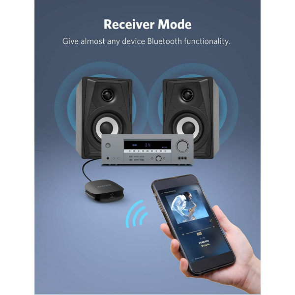 Anker Soundsync A3341 Bluetooth 2-in-1 Transmitter and Receiver