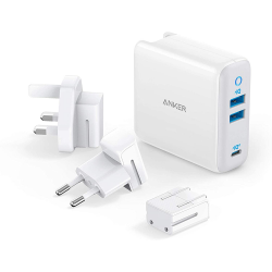 Anker PowerPort III 3-Port 65W Travel Charger with Plug Sets
