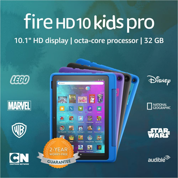 "Amazon Fire HD 10 Kids Pro tablet, 10.1"", 1080p Full HD, ages 6–12, 32 GB"