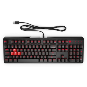 HP Omen 1100  Wired USB Gaming Keyboard  (Black/Red)