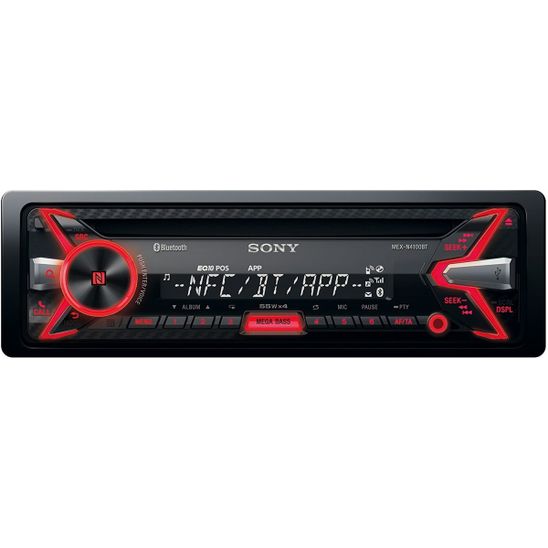 Sony MEX-N4100BT CD/MP3 Car Stereo with Built-in Bluetooth Front USB and AUX