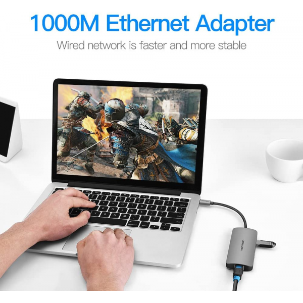 Vention USB Type C to Multi-Function 4 IN 1 Hub / Docking Station