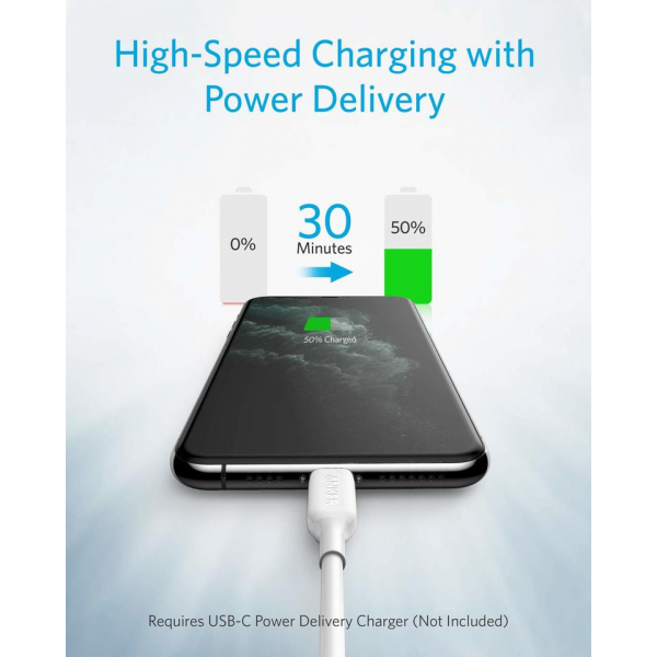 Anker  PowerLine III USB-C to Lightning Cable 6ft