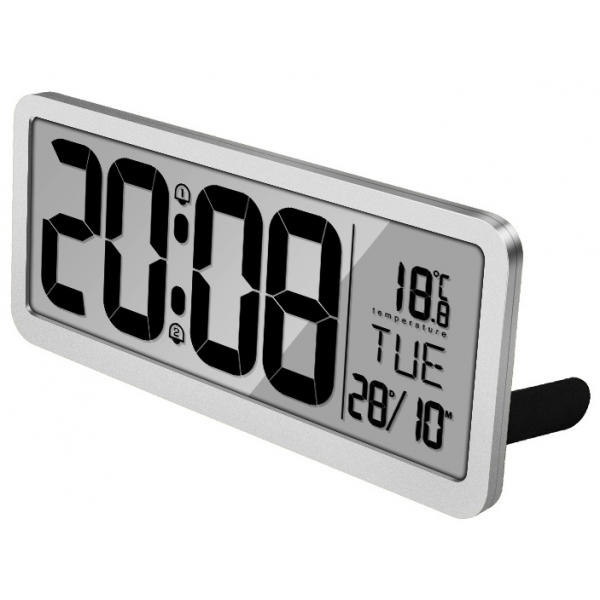 14 Inch LCD Digital Wall Alarm Clock  Large Size with Dual Alarms