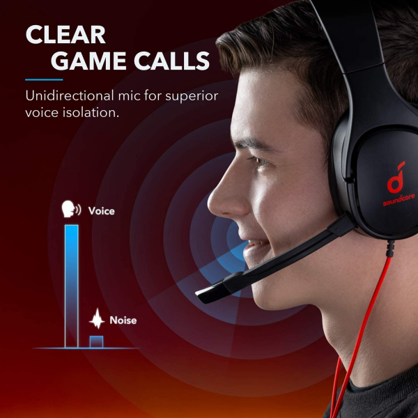 Anker Soundcore Strike 1 Gaming Headset for PC & PS4