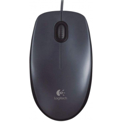 Logitech M90 USB Wired Mouse - Black