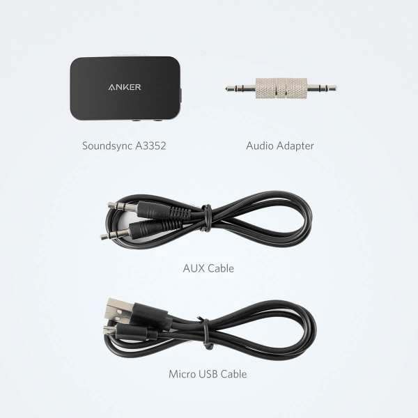 Anker Soundsync A3352 Bluetooth Receiver for Music Streaming with Bluetooth 5.0