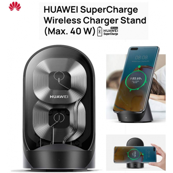 HUAWEI Supercharge Wireless Charger Stand (Max 40 W) with Adapter