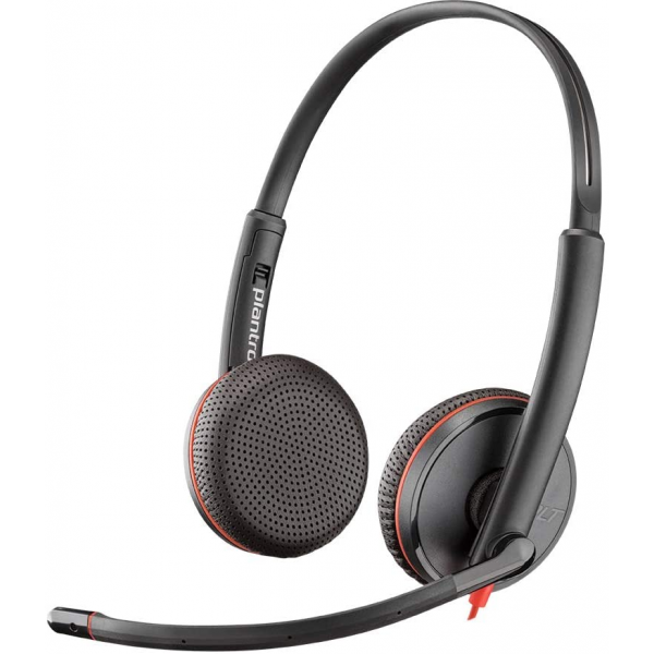 Plantronics Blackwire 3225 USB-A Wired On-Ear Mono Headset