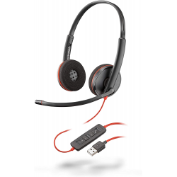 Plantronics - Blackwire 3220 - Wired Dual-Ear (Stereo) Headset with Boom Mic - USB-A