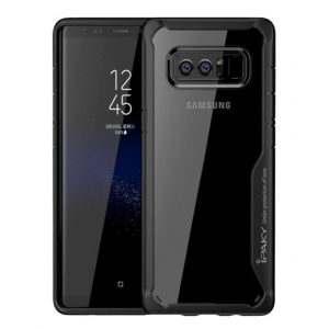 iPaky Silicone Acrylic Hybrid Shockproof Transparent Case for Samsung Note 8
