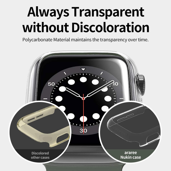 araree NUKIN Crystal Transparent Thin Cover for Apple Watch 6/SE/5/4