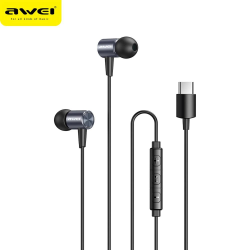 AWEI TC-2 Bass Sound Type-C  In-Ear Sport Earphones With mic