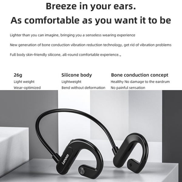 Lenovo X3 Bone Conduction Bluetooth Headset Outdoor Sports Earbuds