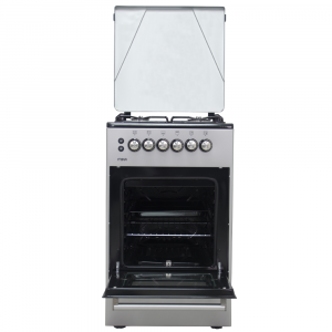 Mika MST50PUAGSL Standing Cooker, 50cm X 50cm, All Gas, Gas oven, Silver